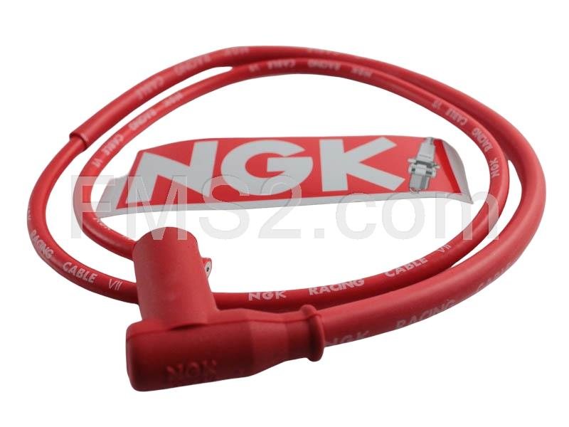 Cavo Racing NGK rosso Bergamaschi, ricambio N09054