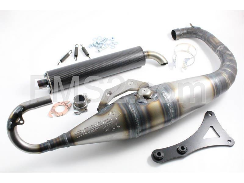 Marmitta step 2 race MBK Booster 50 mode (One Italia), ricambio 77017200
