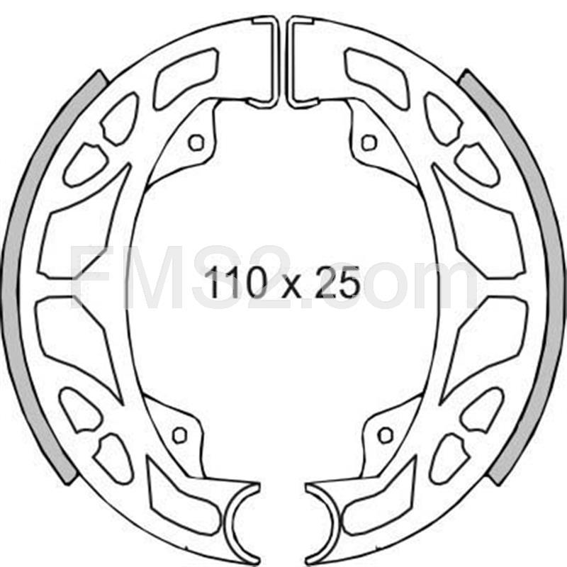 Kit ganasce freno per freno a tamburo 120/X 25/mm