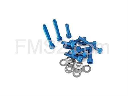 Kit viti carter messa in moto Minarelli blu TNT, ricambio 171002