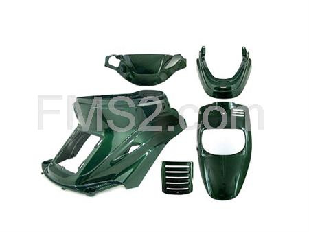 Kit carene Booster Spirit colore verde Jaguar (TNT Tuning), ricambio 366199
