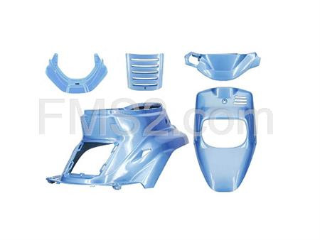 Kit carene TNT in plastica di colore blu hawai per scooter MBK Booster Spirit fino al 2003 e Yamaha original BW'S  fino al 2003, ricambio 366449A