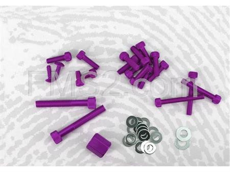 Kit viti decoro Booster Spirit viola (One Italia), ricambio 77171101