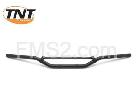 Manubrio cross One Italia in alluminio di colore nero opaco per cross e enduro motard, ricambio 77303209