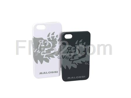 Cover lion Malossi per iphone 5 e 5s in materiale plastico (pc policarbonato) con stampa all'acqua e finitura gommata di colore nera, ricambio 4216001B0