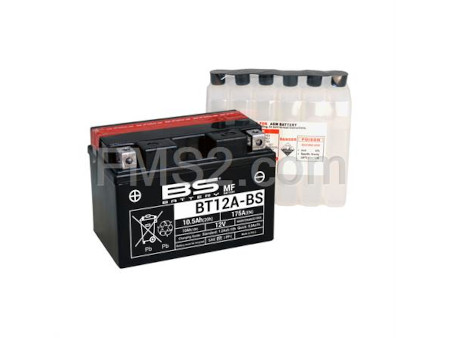 Batteria RMS YT12A-BS, tipo MF, ricambio 246610225